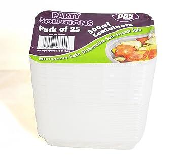 750 x 500 ml recipiente de plástico transparente & Tapas ...