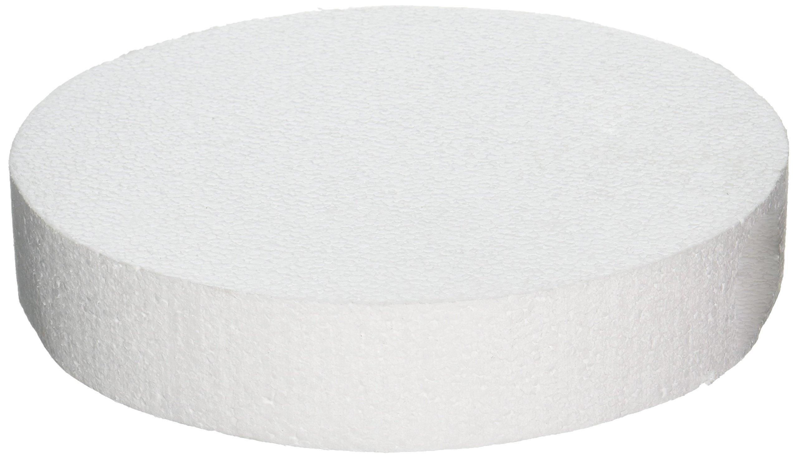 Oasis Supply 746980 Dummy Round Cake, 10'' x 2'', White