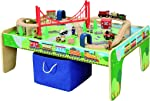 maxim enterprise, inc. 50 Piece Wooden Train Set with Train /