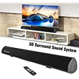 "Wohome S9920 Soundbar, TV Sound Bar Wireless Bluetooth and Wired Home Theater Speaker System (40"", 6 Drivers, 80W, 3D Surround Sound,105dB Audio Output, Remote Control, Wall Mountable, Black)"