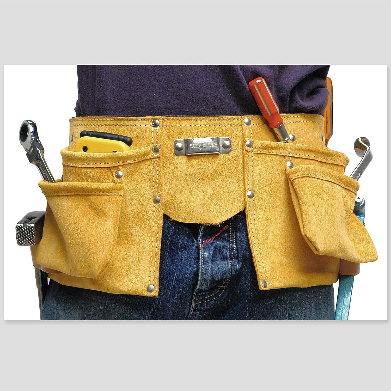 DEMA Lederwerkzeuggü rtel mit 4 Taschen