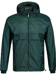 554365492 GEEK LIGHTING Men's Waterproof Hooded Rain Jacket, Lightweight Packable  Raincoat for Outdoor, Camping,