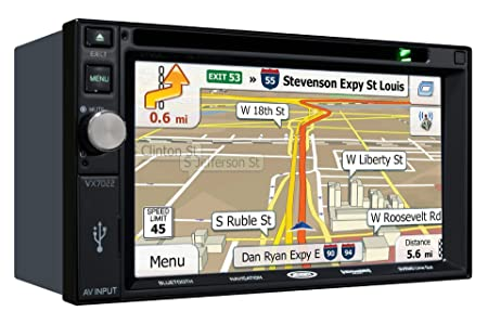 "Jensen VX7022 MultiMedia Receiver w 6.2"" TFT NAV / SXM Ready / Pandora / iPod / iPhone / Built-In Bluetooth with Ext Mic"