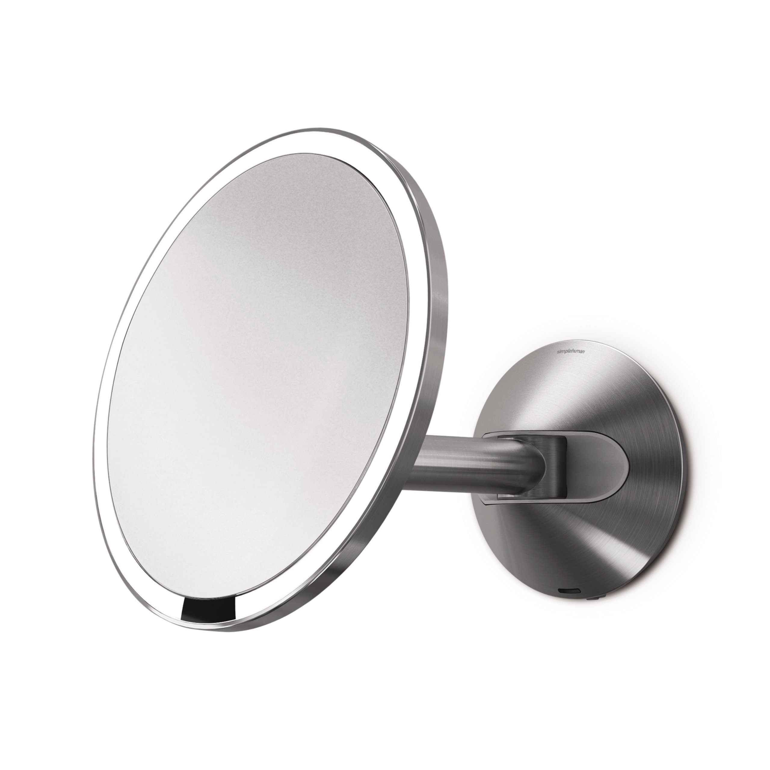 simplehuman 8 inch Wall Mount Sensor Mirror, Lighted Makeup Mirror, Rechargeable 5x Magnification by simplehuman (Image #2)