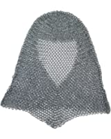 RedSkyTrader Mens Steel Chainmail Coif Hood One Size Fits Most Silver