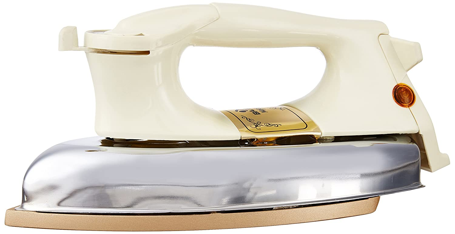 Bajaj DHX 9 1000-Watt Dry Iron (Ivory Color)