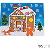 """12 Large MAKE a GINGERBREAD HOUSE Sticker Sheets/Christmas CRAFT/ACTIVITY/8.5"""" X 11"""""""