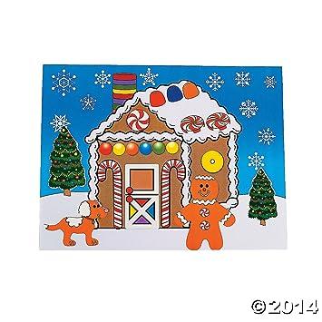 amazon com 12 large make a gingerbread house sticker sheets rh amazon com gingerbread house cartoon gingerbread house cartoon images