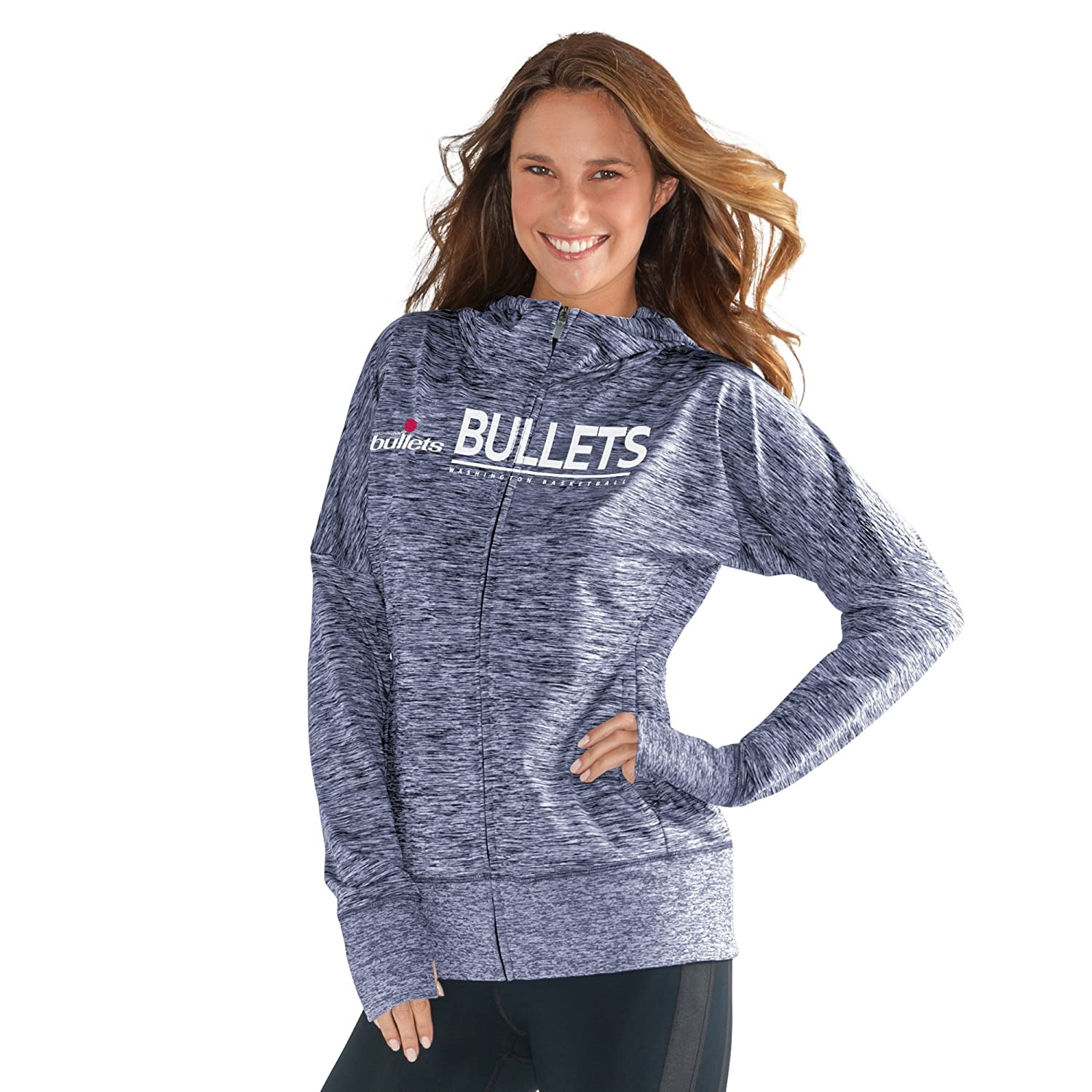 GIII For Her NBA Washington Bullets Womens Receiver Hoody Navy X-Large