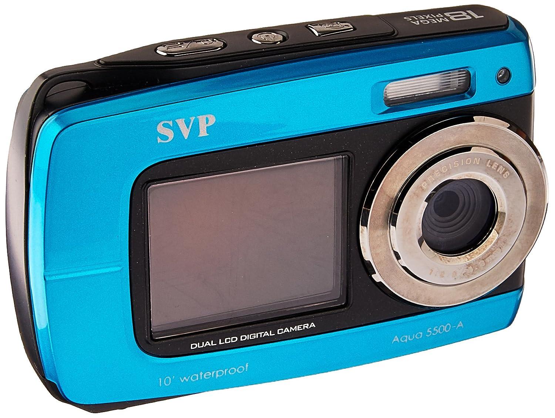 Amazon.com : SVP Aqua 5500 (Blue) 18 MP Dual Screen Waterproof Digital  Camera : Underwater Digital Cameras : Camera & Photo