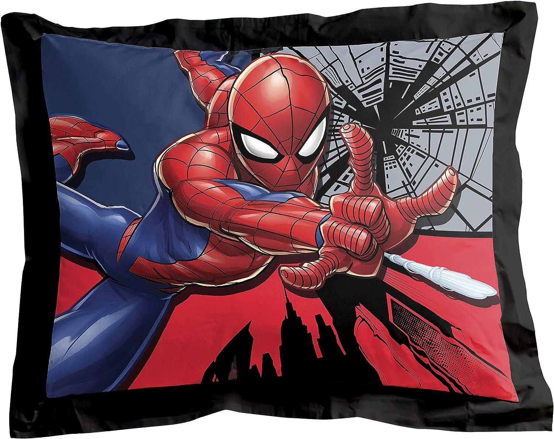 Official Marvel Product Super Soft Kids Reversible Bedding Includes Bonus Sham Fade Resistant Polyester Microfiber Fill Jay Franco Marvel Spiderman Webbed Wonder Twin Comforter