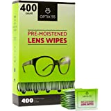 Eyeglass Cleaner Lens Wipes - 400 Pre-Moistened Individual Wrapped Eye Glasses Cleaning Wipes | Glasses Cleaner Safely Cleans