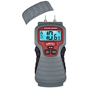 Calculated Industries 7440 AccuMASTER XT Digital Moisture Meter | Handheld |Pin Type | Backlit LCD Display | Detects Leaks, Damp and Moisture in Wood, Walls, Ceilings, Carpet and Firewood