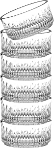 """Barski Glass Bowl - Lead Free Crystal -Set of 6 Small - Individual Bowls - Bowls are Stackable - 3.5"""" Diameter - Could Be Used for Nuts - Candy - Made in Europe"""