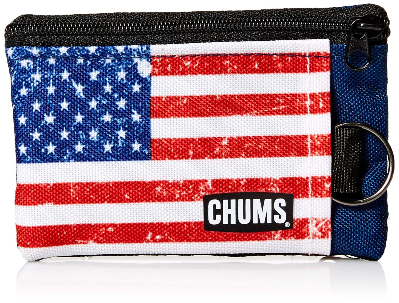 Chums Unisex Surfshort Wallet with Key Ring, American Flag, One-Size by Chums