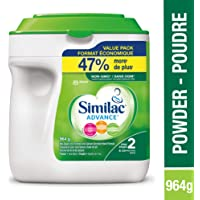 Similac Advance Step 2 Non-GMO Baby Formula, Powder, 964g, 6-24 Months, Green