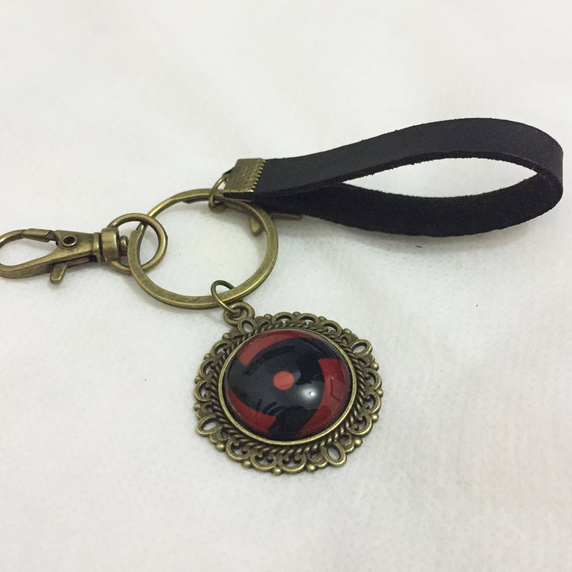 Dreamcosplay Anime Naruto Itachi Sharingan Logo Key chain Pendant