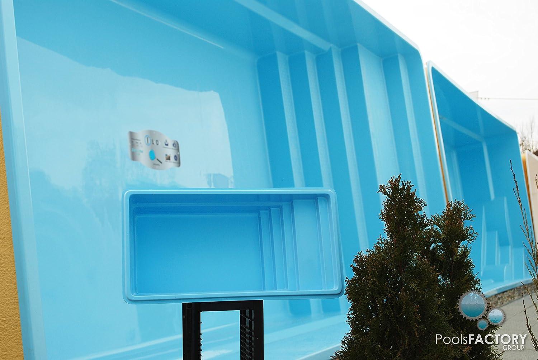 """Piscina """"Laofi"""" de fibra de vidrio, piscina de jardín en miniatura Minipiscina de plástico reforzado de vidrio."""