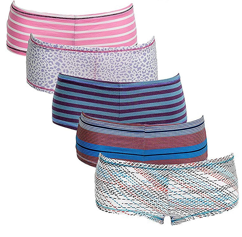 Emprella Damen Slips Boyshort Höschen (5) Multipack Ultra-Weich Baumwolle Unterwäsche