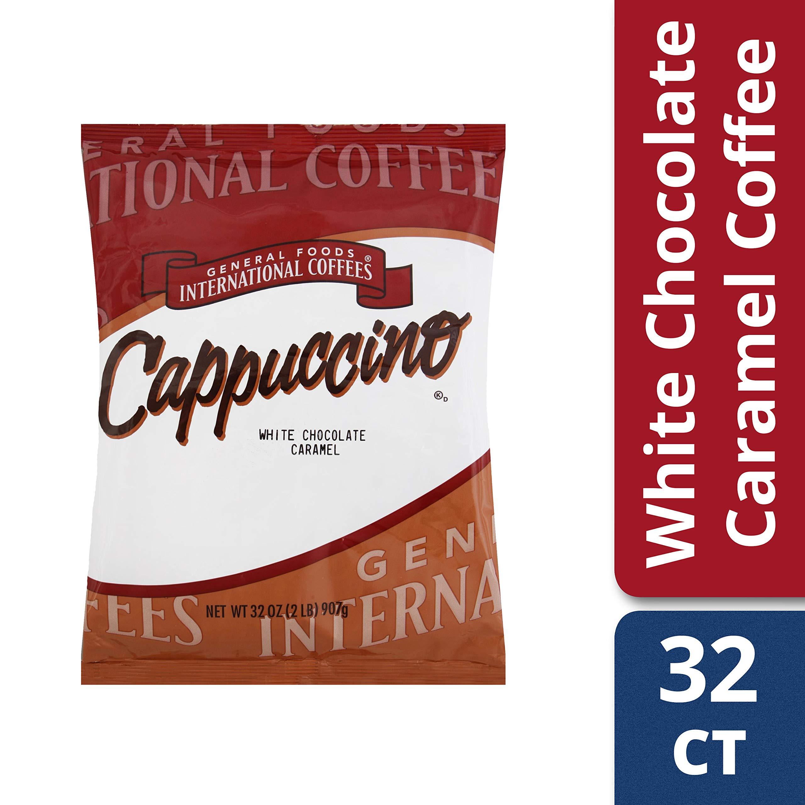 General Foods International White Chocolate Caramel Coffee Mix (2 lbs Jugs, Pack of 6) by General Foods International
