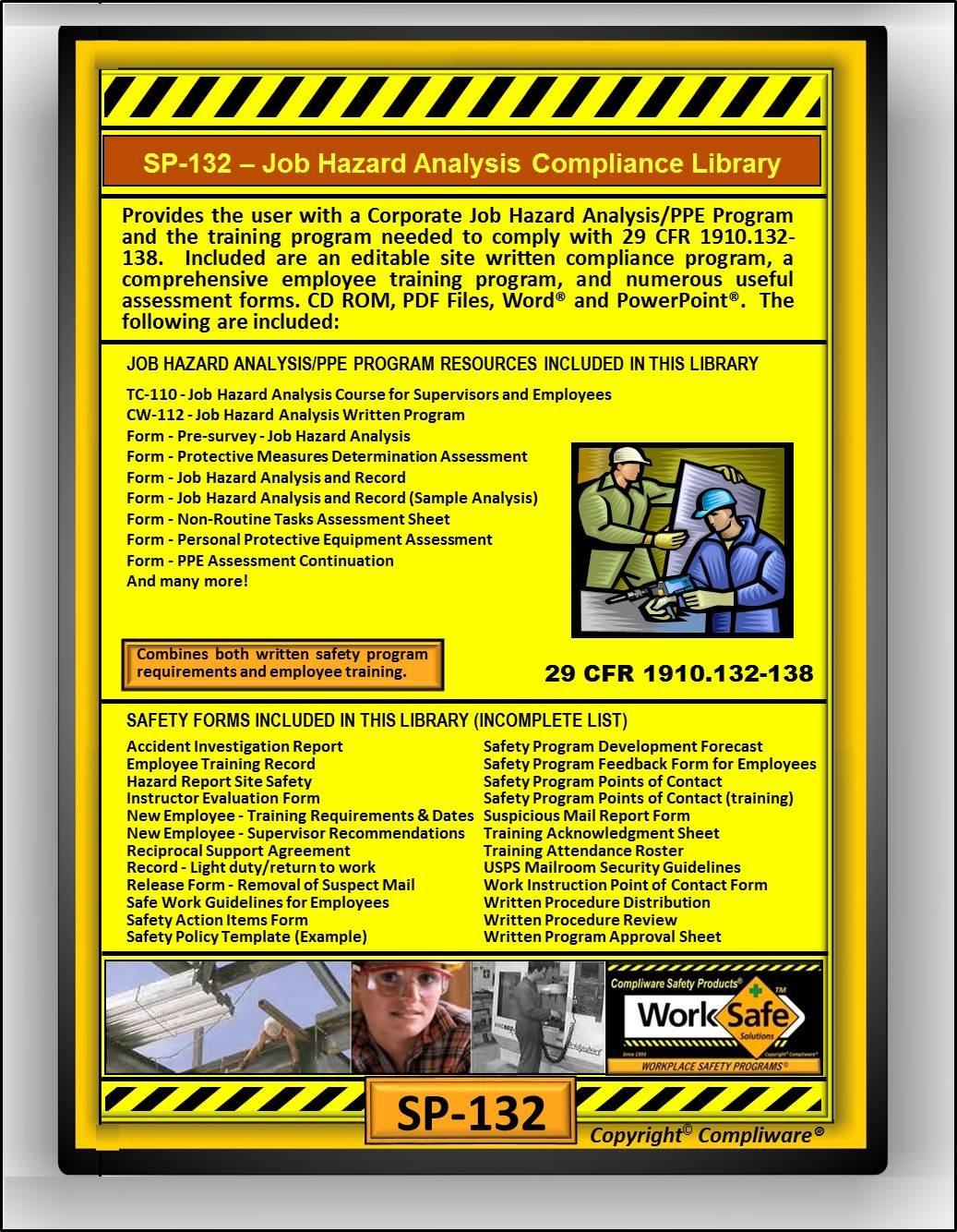amazoncom sp 132 job hazard analysis personal protective equipment safety compliance library osha 29 cfr 1910132 138 upc 639737375190