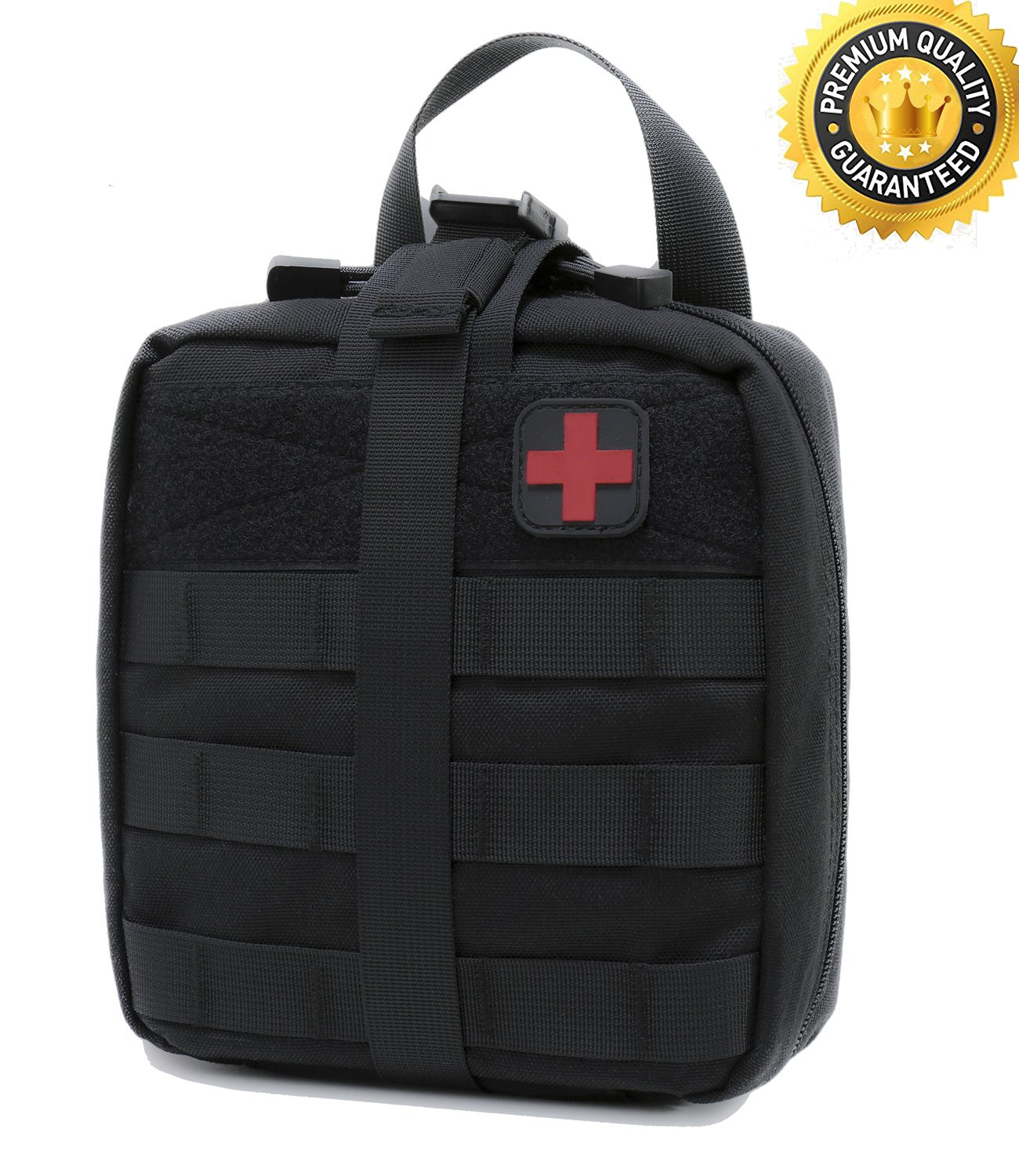 Carlebben Tactical MOLLE Rip Away EMT Medical First Aid IFAK Utility Pouch 1000D Nylon (Black)