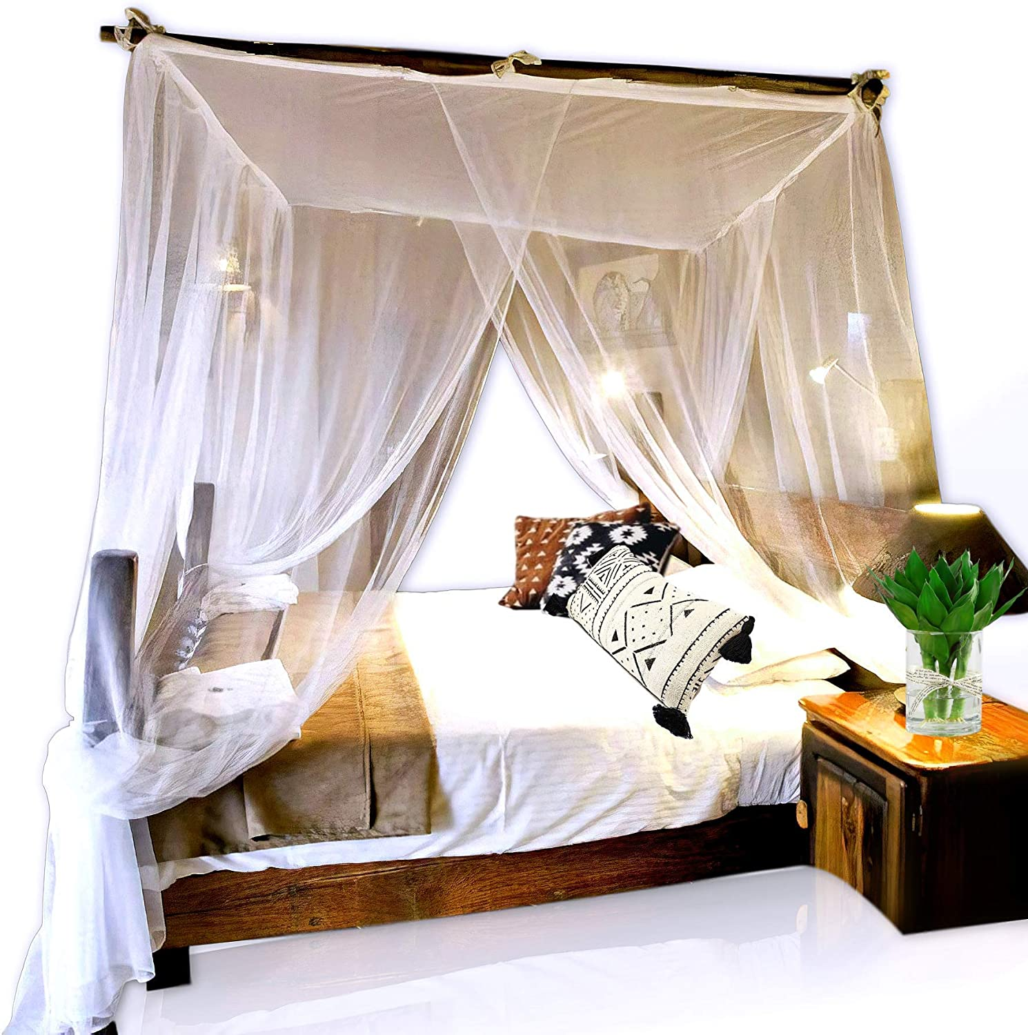 - Amazon.com: Basik Nature Jumbo Mosquito Net Canopy For Queen-King