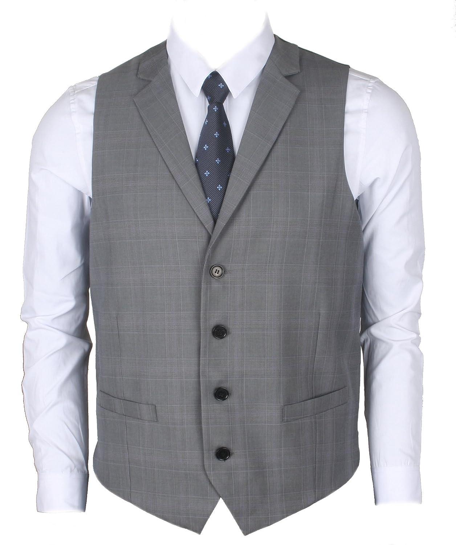 Ruth& Boaz Men's 2Pockets 4Buttons Business Tailored Collar Suit Vest