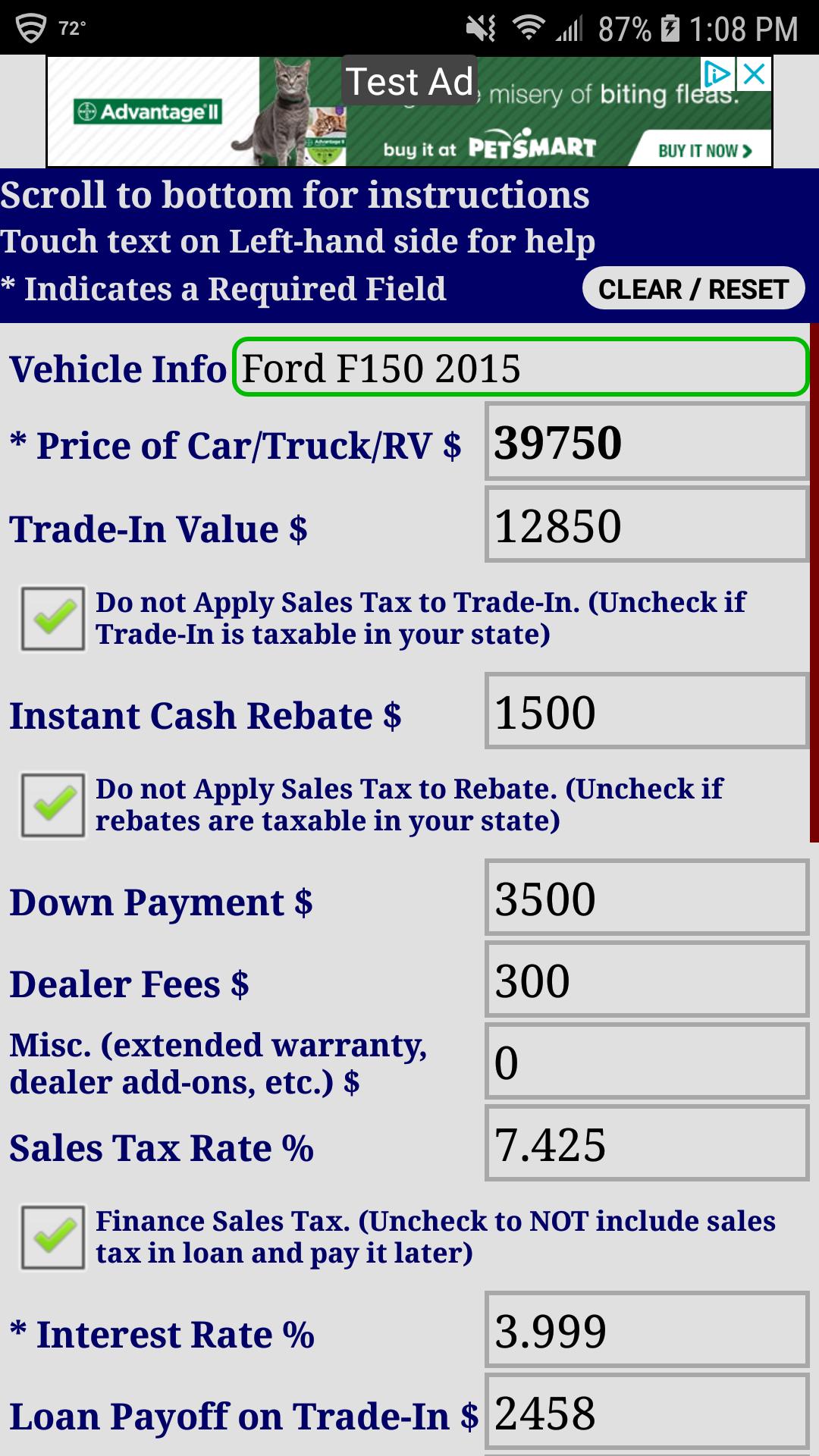 Auto Car Truck RV Loan Payment Calculator FREE: Amazon.es