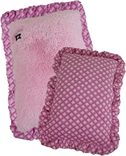 product image for BESSIE AND BARNIE Mesh Deluxe Bubble Gum/Pink It Fence (Ruffles) Pet Dog Durable Crate Pad