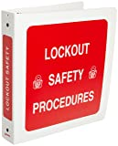 Brady 3-Ring Binder for Lockout Procedures - LOSB1