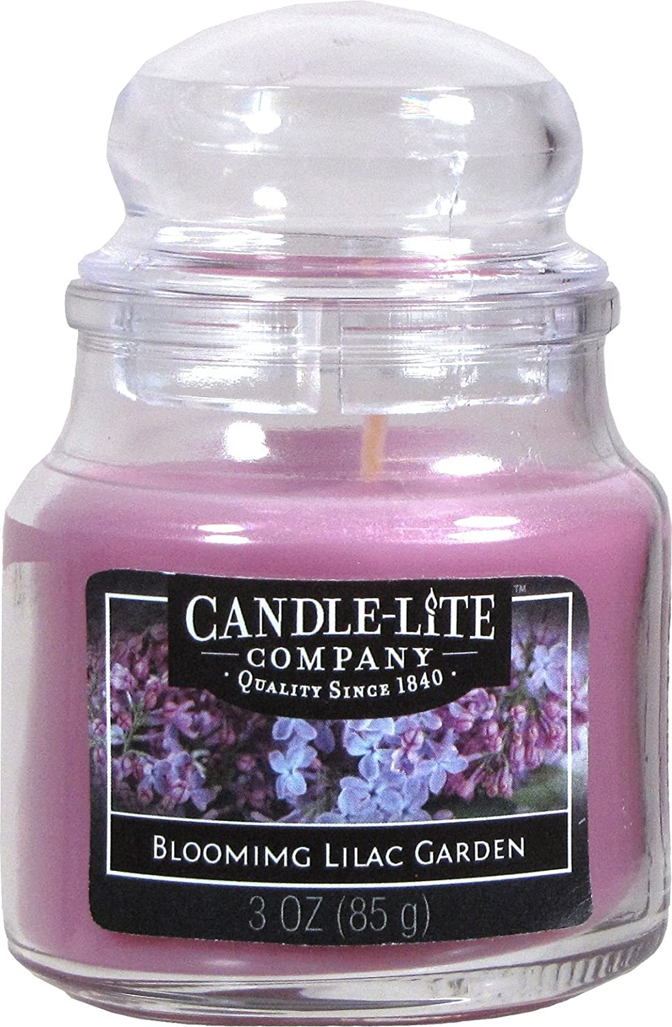 Candle Lite–Large Jar Candle–Blooming Lilac Garden 85g/Beads 6x 6x 9.5cm Candle-liteTM 4173382