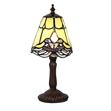 Amazon river of goods 16369 tiffany style crystal lace mini river of goods 16369 tiffany style crystal lace mini accent table lamp green aloadofball Gallery