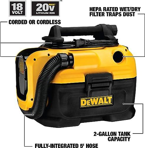 DEWALT 18 20V MAX Vacuum, Wet Dry DCV581H