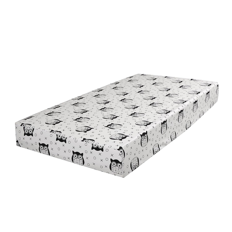 100 /% Cotton Kidiway 3047 kidicomfort Fitted crib sheet Black Owl