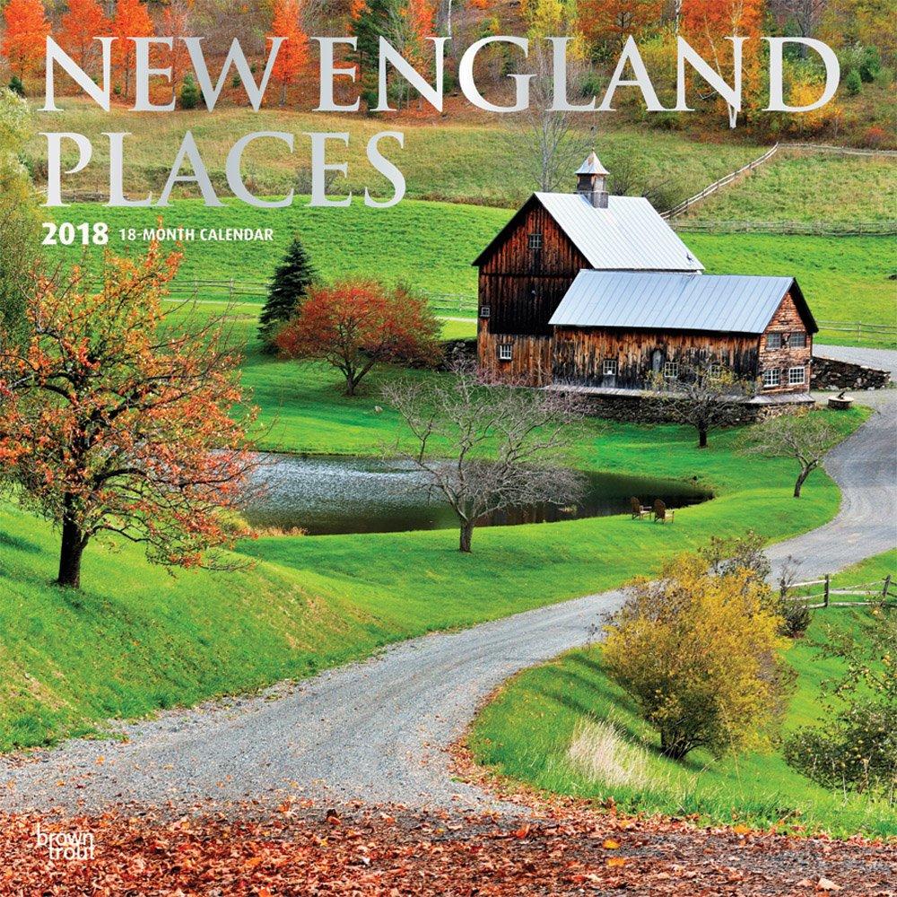 New England Places - Neuengland 2018-18-Monatskalender mit freier TravelDays-App: Original BrownTrout-Kalender [Mehrsprachig] [Kalender] (Wall-Kalender)