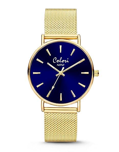 Colori - XOXO - 5-COL447 - Horloge - Mesh band - goudkleurig - 36