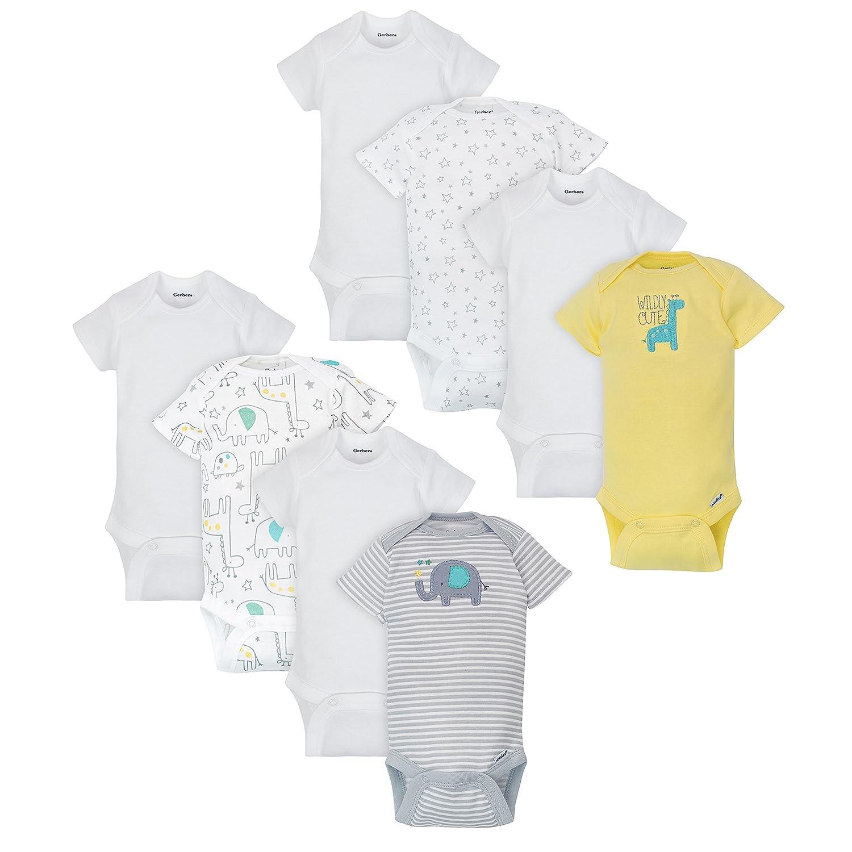 Gerber Baby Boys' 8 Pack Variety Onesies Bodysuits