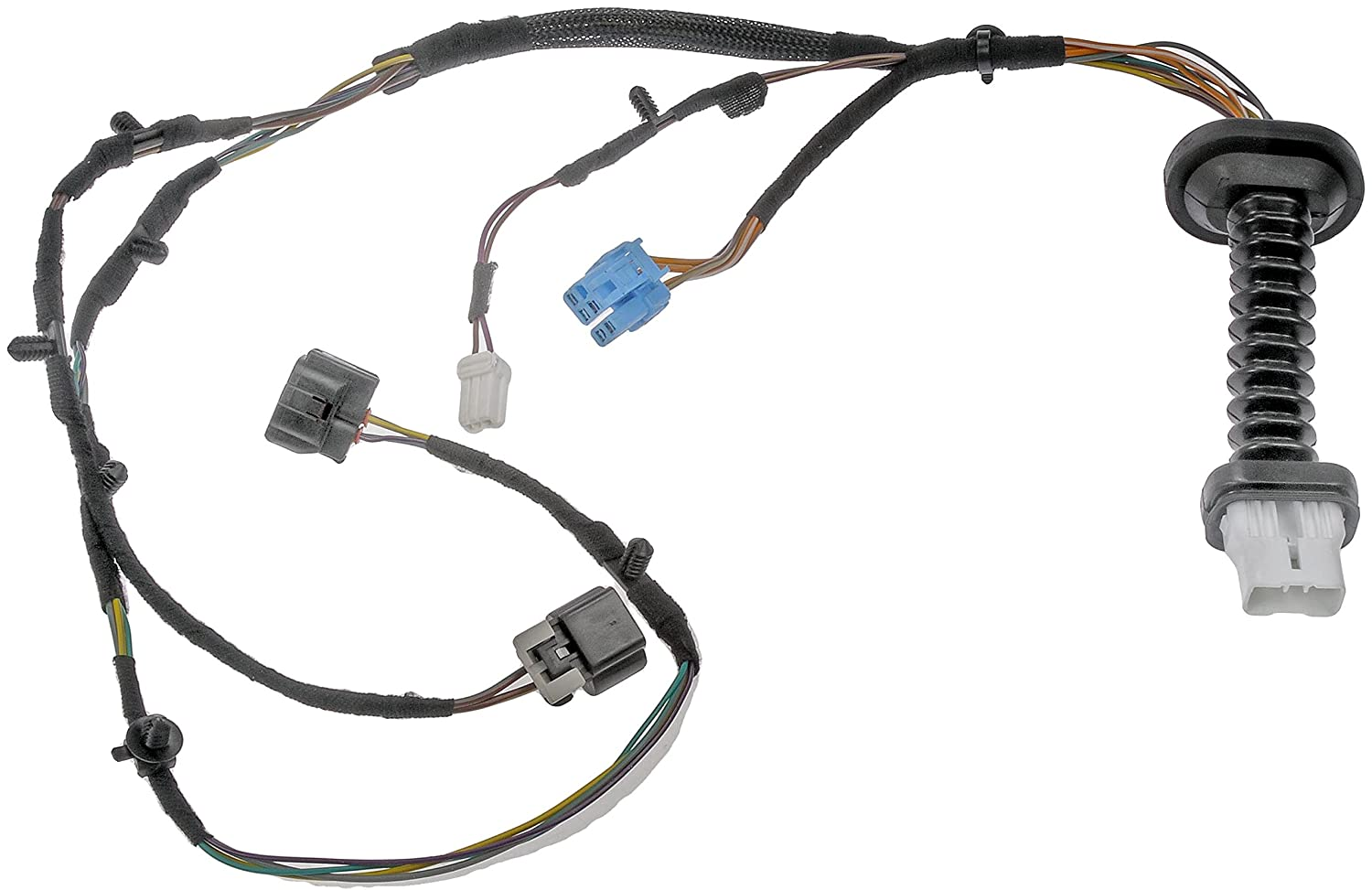 81c1LCEp7lL._SL1500_ amazon com dorman 645 506 door harness with connectors automotive 2007 dodge ram rear door wiring harness at webbmarketing.co