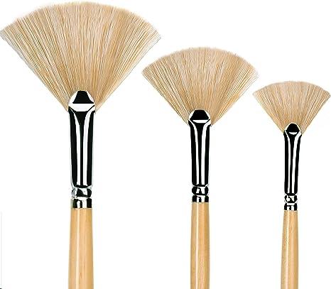 3 pennelli in legno per stencil con setole di hog Rongzou Pen pittura a olio acrilici per studenti acquerelli