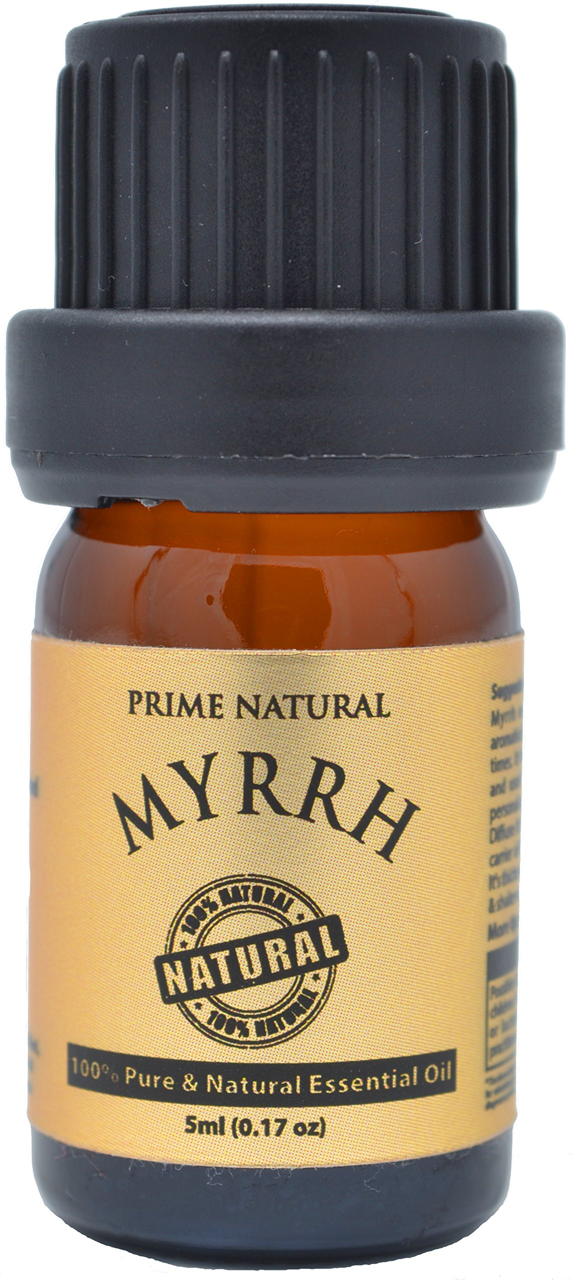 Myrrh Essential Oil 5ml/0.16oz - Commiphora Myrrha - 100% Natural Pure Undiluted Therapeutic Grade for Aromatherapy Scents Diffuser Skincare Anti Aging Calming Peace Spiritual