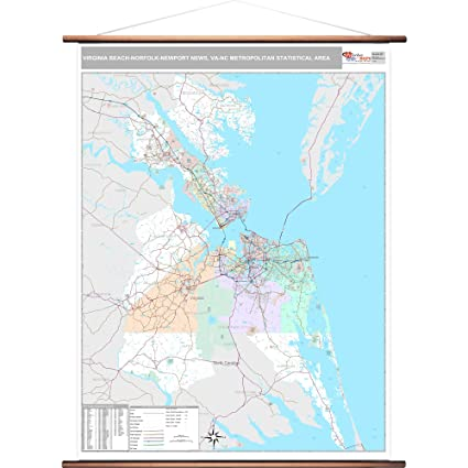 Zip Codes Virginia Map.Amazon Com Marketmaps Virginia Beach Norfolk Newport News Va Metro