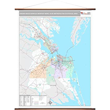 Amazon Com Marketmaps Virginia Beach Norfolk Newport News Va Metro