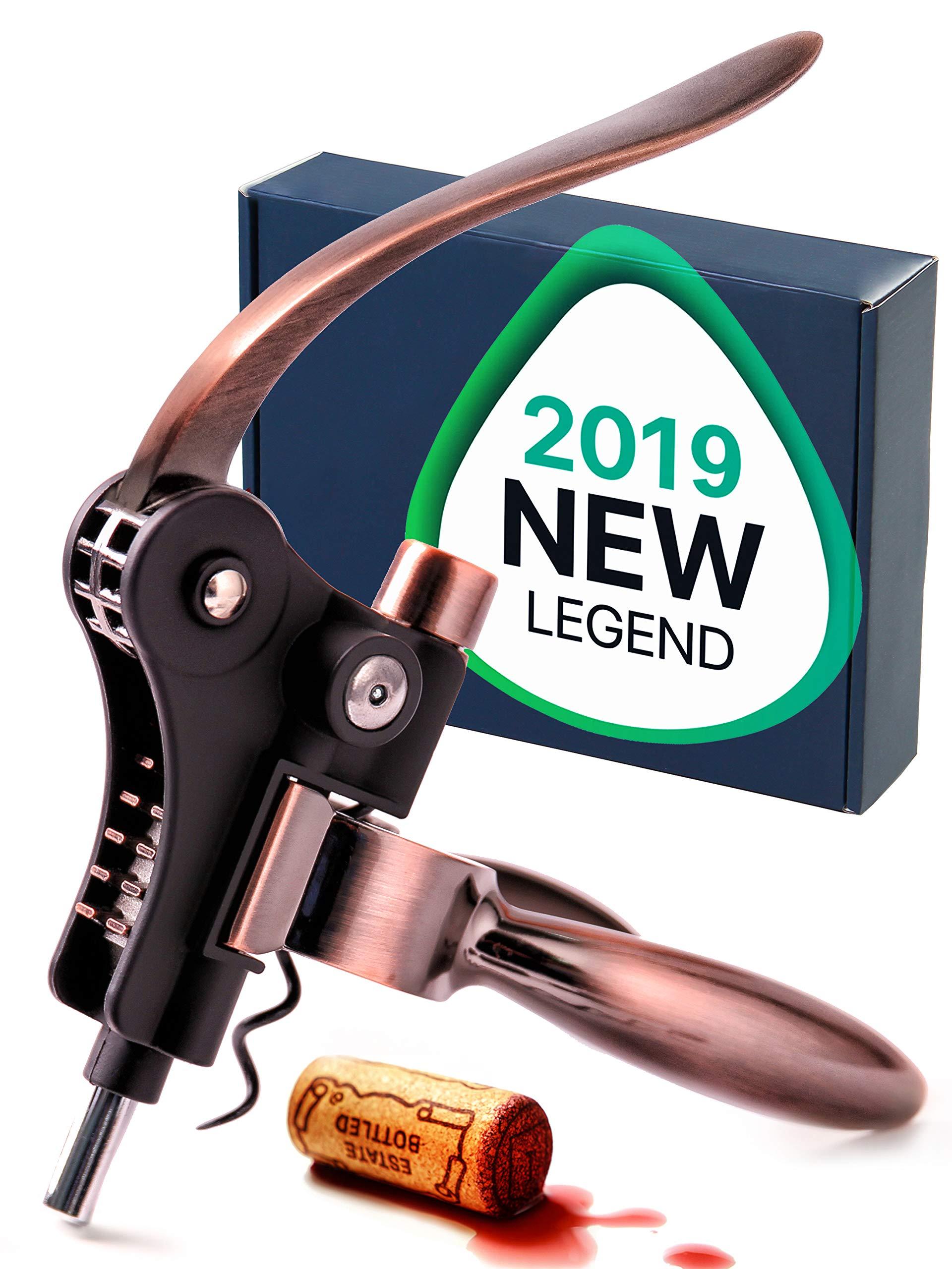 Wine Opener - Wine Accessories - Wine Corkscrew - The Best Wine Tool Kit For Women - Large Manual Wine Set For Men - Lever Cork Opener by RedNoel