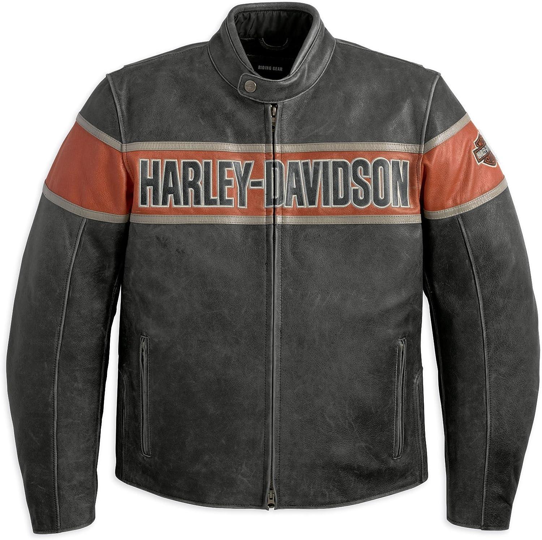 Noir Blouson en cuir pour hommes Harley-Davidson Victory Lane 98057-13VM Outwear pour hommes XL