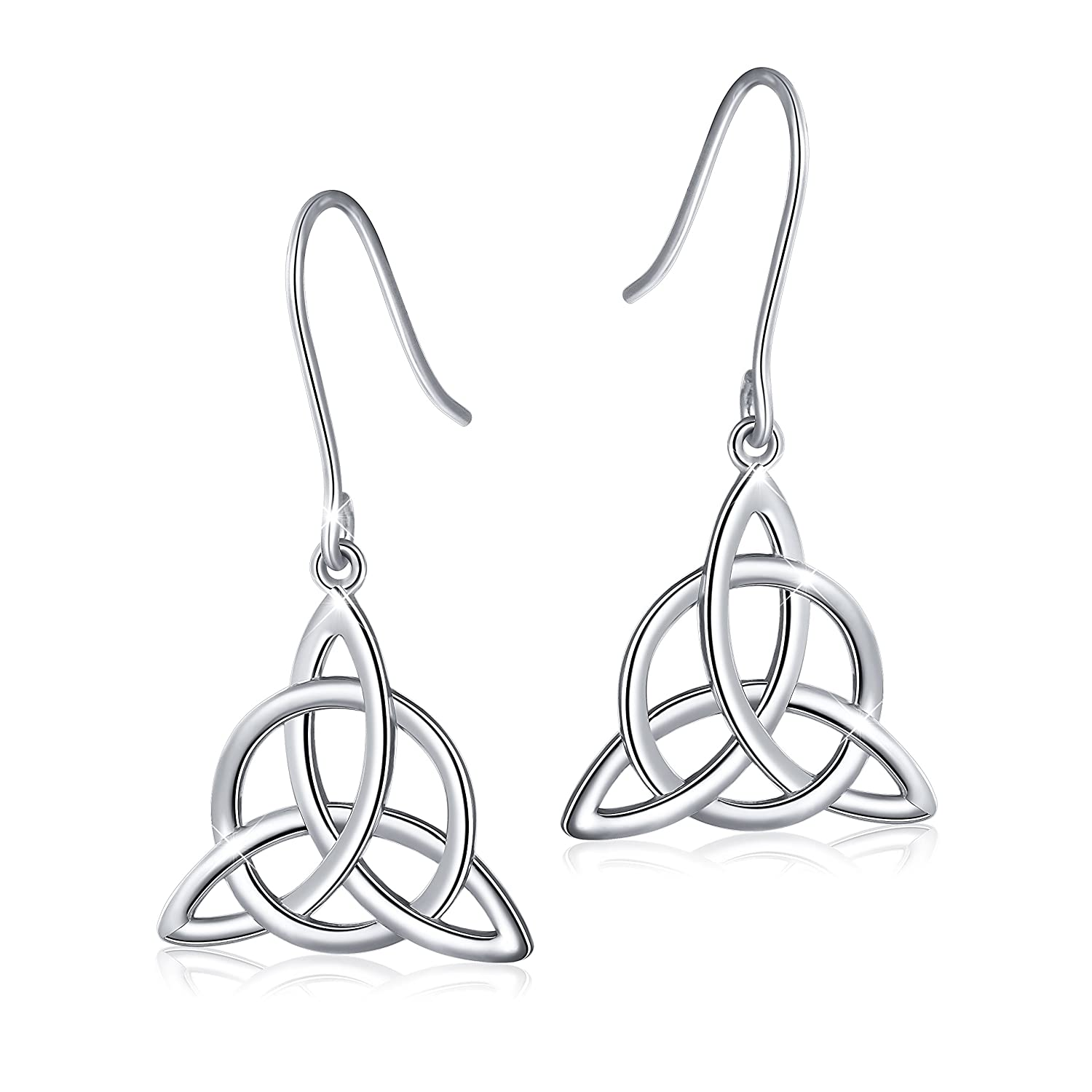 w knot earrings celtic platinum pearl heritage image