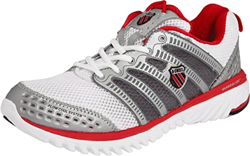 CHILDS K-SWISS WHITE//SILVER//MULTI TRAINER STYLE TUBES RUN