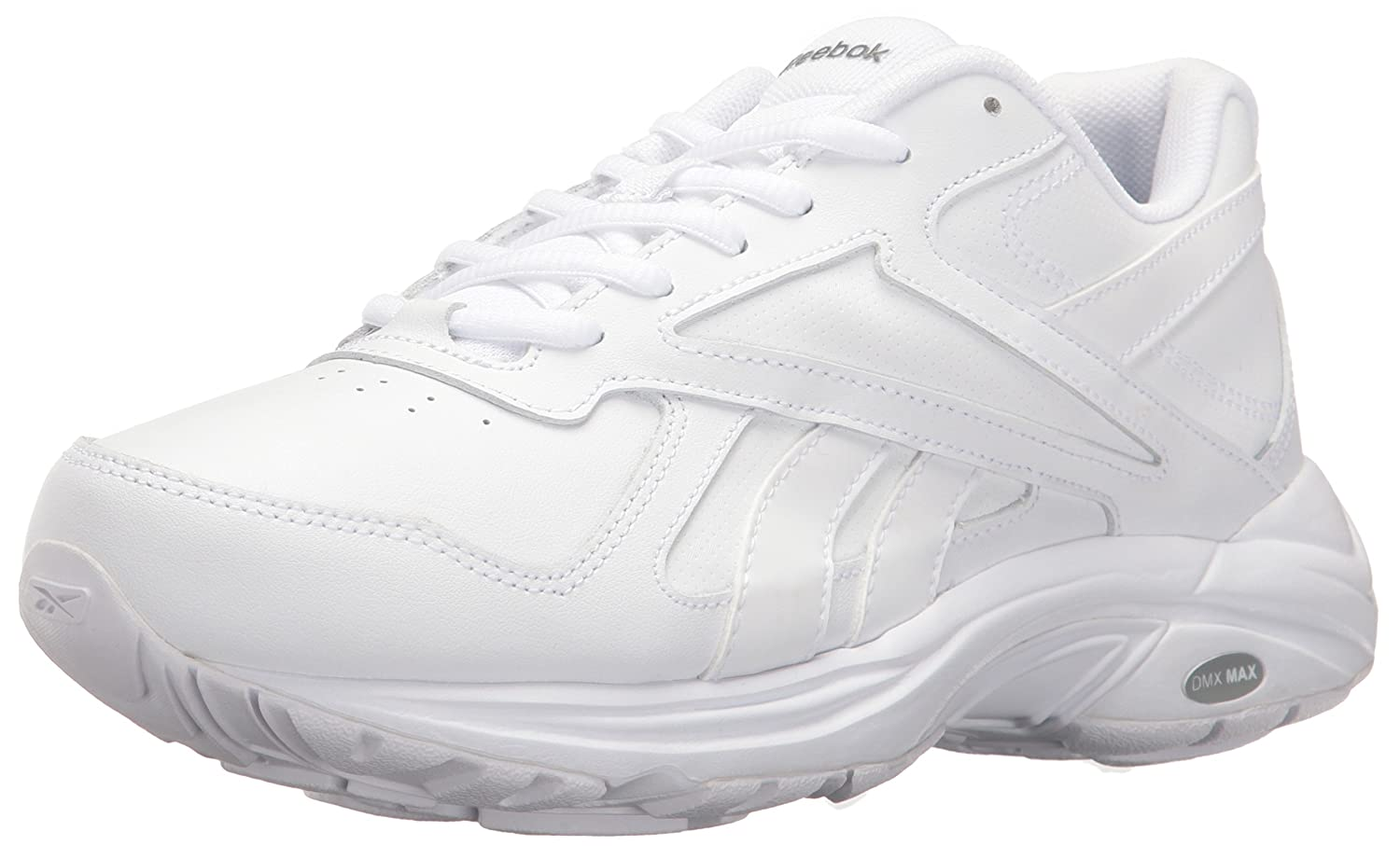 Reebok Women's Ultra V DMX Max WD D Walking Shoe B01NCA5VGP 5.5 C/D US|White/Flat Grey - Wide D