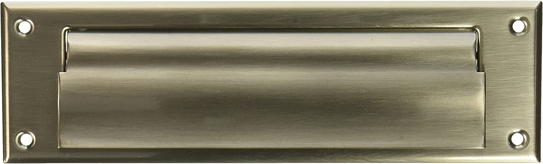 Lifetime Polished Brass Baldwin 0017.003 Hinged Magazine Size Letter Box Plate