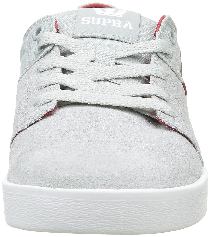 Supra Herren Stacks II Sneakers, Grau (Light GreyRED White 040), 42.5 EU